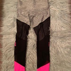 Victoria Secret Pink Bonded Leggings With Mesh